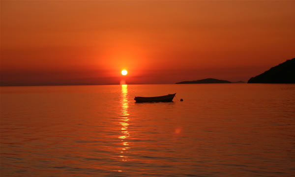 Malawi lake sunset